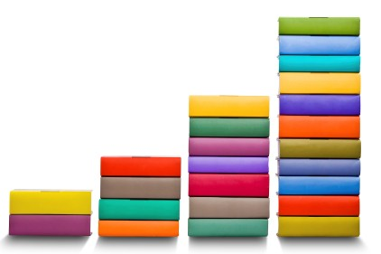 books histogram chart